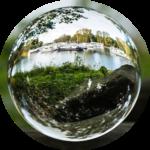 boule verre paysage ovale