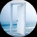 Porte sur ocean ovale